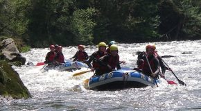 # 11: Going down a Class IV gorge in Rafting