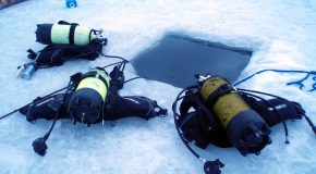 # 60: Diving under the ice of Tignes Lake