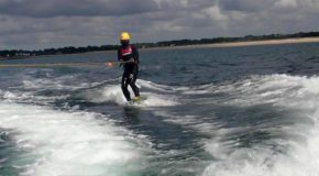 # 16: Trying wakeboarding