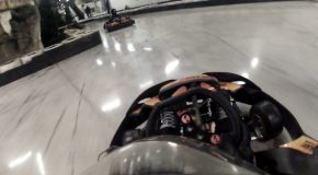 #295 : Driving a kart on a track of silicone