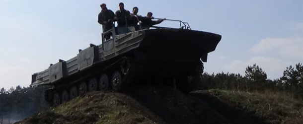 #479 : Driving an amphibian  armoured vehicle of the soviet army