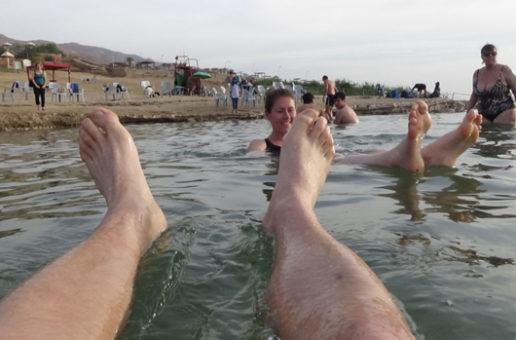 #561 : Floating in Dead Sea in Jordan
