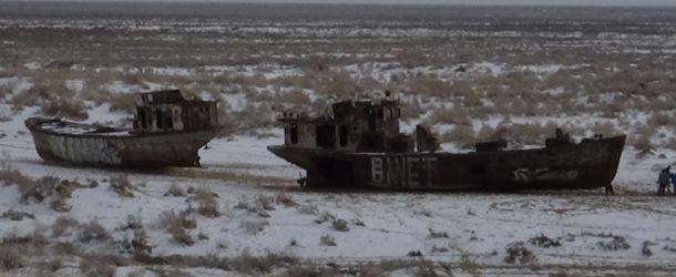 #639 : Voir le cimetière de bateaux de la Mer d'Aral à Moynaq